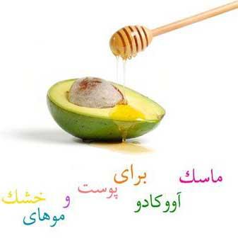 www.takroj.ir 300012661 ماسک آووکادو و عسل برای پوست خشک