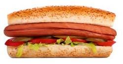 ساندویچ هات داگ هات داگ بخورید، سرطان روده بگیرید