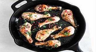 مرغ1 خوراک مرغ با سس انار