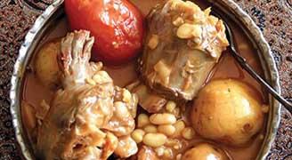 آبگوشت طرز تهیه آبگوشت گردن شترمرغ و سیب