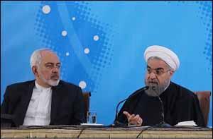 روحانی و ظریف سخنان روحانی در همایش سفرا و مسئولان وزارت خارجه