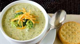 سوپ سوپ کلم بروکلی و پنیر