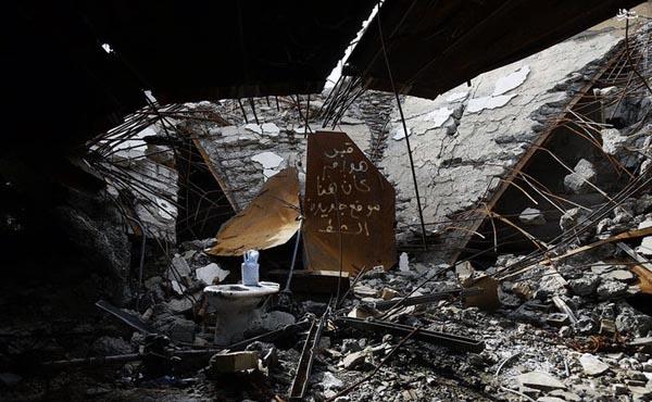 قبر مخروبه صدام قبر مخروبه صدام در روستای عوجه تکریت