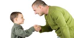 پدر و فرزند اطاعت از بچه ها، ممنوع